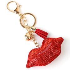 Lush Red Pave cristal lèvres Porte-clés, Key ring by Rocks Boutique
