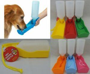 PORTABLE PET DOG WATER DRINKING BOTTLE BOWL DISH CAT TRAVEL FEEDING PUPPY NEW
