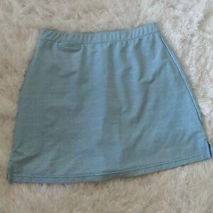 Peter Millar Golf Skirt Shorts Skort Blue Dot Wicking UPF 50+ Women's Medium