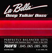 La Bella Bass Strings Deep Talkin' Bass Flat Wound Stainless Steel 45-105