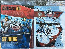 2017 NHL Winter Classic Programs St. Louis Blues Vs Chicago Blackhawks LOT OF 2