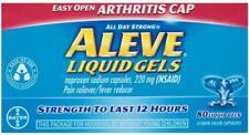 Aleve Liquid Gels Easy Open Arthritis Cap 80 Liquid Gels EXP 9/2020