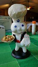 "Pillsbury Doughboy Figure in box.  ""At Your Service"" Danbury Mint (c)1999 Great"
