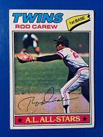 Rod Carew 1977 Topps Baseball Card # 120 Minnesota Twins 1st Base HOFer