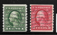412-413 VF SET WITH SINGLE LINE WATERMARK,  FREE SHIPPING IN USA  *