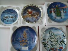 Avon 2002 2003 2004 2005 2007 Christmas Collector's Plates Lot Of 5