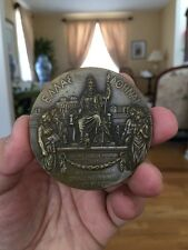ANTIQUE BRONZE MEDAL/PAPERWEIGHT MARKED: HOND PARIS