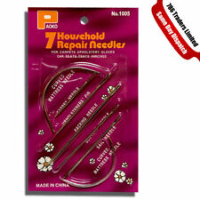 SEWING NEEDLE SET SELF THREADING CURVED REPAIR CRAFT SEWING DRESSMAKING NEEDLES