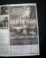 Best END OF DAYS Schwarzenegger Movie Opening Day AD Review 1999 L.A. Newspaper