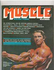MUSCLE BUILDER bodybuilding magazine/ARNOLD SCHWARZENEGGER 1-75