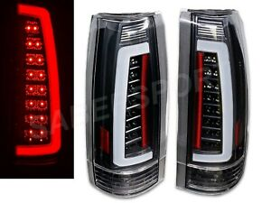 Set of Black C-Bar LED Taillights for 88-99 GM C/K 1500 2500 3500 Yukon Suburban