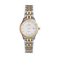 Citizen Eco-Drive Women's Gold-Tone Accents Bracelet 28mm Watch EW2404-57A
