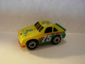 VINTAGE MICRO MACHINES NASCAR FORD RACER IN YELLOW/GREEN REMINGTON #75