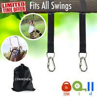 [Set of 2] Tree Swing Nylon Hanging Hammock Straps Kit 5 FT 2200LB Carabiner