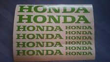 Honda Stickers / Decals - assortment, 12 total, multiple colors