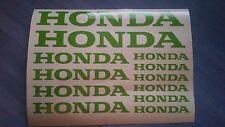 Honda Stickers / Decals - assortment, 12 total, multiple colors