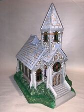 "PartyLite #P7321, ""The Church"" Olde World Village tealight house, Nib"