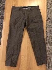 Gutteridge 50 Pants Brown Beige Skinny Slim Straight Pattern Print