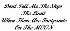 """""""Don't tell me the skys the limit"""" decal sticker wall ute BNS truck car"""