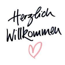 """Serviette Avantgarde Loft """"Herzlich Willkommen"""" (Braun & Company; #Serviette#..."""