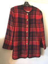Liz Claiborne Plaid Jacket SZ.14 Excellent