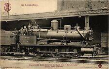 CPA Les Locomotives-Machine de Gare de la Cie du Nord (423158)