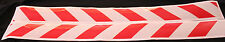 Red/White Class 2 Reflective Tape 100mm x 1.15m Pair (Left & Right Direction)