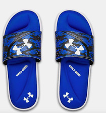 New Under Armour UA Ignite DPM VI Striker Slides Blue Flip Flop Sandals