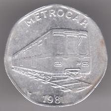 Metrocar TRAIN - 20p pence transport National Aluminium JETON COIN