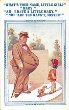 POSTCARD   COMIC   Fat  Man  Child  Little  mary