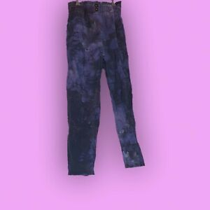 Reworked Upcycled Tie Dye Paperbag High waist Pants size 8