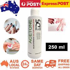 ACETONE 100% Pure SNS Gel Acrylic Nail Polish Soak Off Salon Remover 250 ml