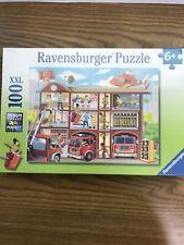 Ravensburger Puzzle 100Xxl Firehouse Frenzy 19 x 14. Firefighter Kids Brand New