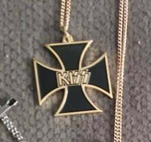 Peter Criss Iron Cross Necklace