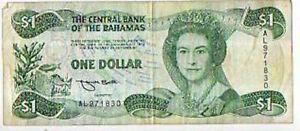The Central Bank of the Bahamas One Dollar 1