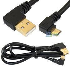 1m USB 2.0 A Stecker Auf Micro B Stecker Datenkabel Ladekabel Links abgewinkelt