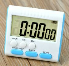 Multi-functions Digital Timer 1s-24hrs Alarm Clock Time Recorder-White