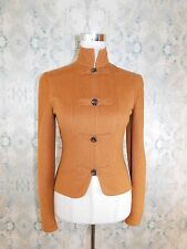 VALENTINO Camel Vintage Wool Angora Military Buttons Zipper Jacket 4 Small