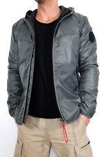 G-star chaqueta cohete acolchado capucha Overshirt L / S T.l blanco Algodón
