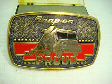 SNAP-ON DRIVIN PROUD LIMITED EDITION 1989 SSX 1313 SOLID BRASS BELT BUCKLE