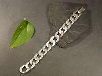 Massives 925 Sterling Silber Armband Franz Scheurle FS Breite Panzer Glieder
