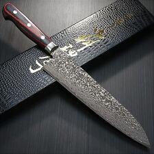 Japanese KANEHIRO VG10 63L Damascus Black Finish Gyuto Chef's Knife 210mm Japan