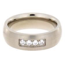 Wunderschöner Titan Ring mit Zirkonia #007 Ringgröße 56 (17,80 mm ø)