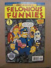 Chief Wiggums Felonious Funnies #1 Bongo 2018 One Shot Simpsons 9.6 Near Mint+