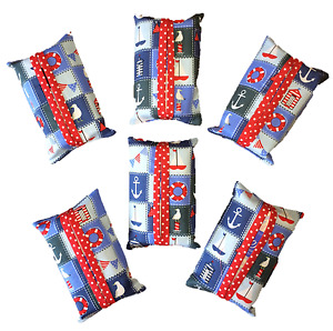 Tissue Holder/Pouch Handmade in Nautical Fabric Kleenex