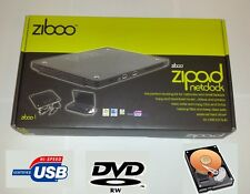 Ziboo Zipad USB Netbook laptop External Enclosure Hard Drive HDD DVD-RW caddy
