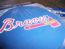1 - 4 Pack Vinyl Drink Coasters, Atlanta Braves logo