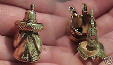 14k gold vintage MEXICAN MAN in SOMBRERO charm GUITAR