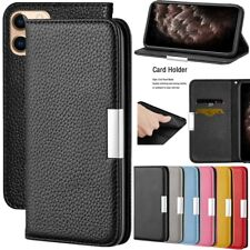 For iPhone 11 Pro Max Xs XR 8 7 6s+ Leather Wallet Case Flip Card Magnetic Cover