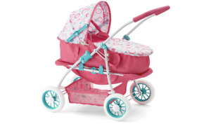 You and Me Convertible Baby Doll Pram Stroller & Carrier in 1